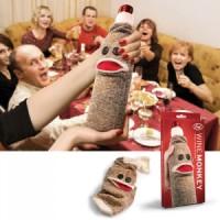 Sock Monkey Wine Bottle Cover