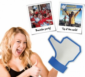 Facebook Like Foam Hand