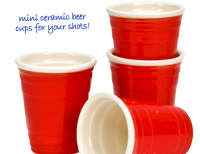Red Cup Shot Glasses