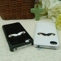 3D Couples Mustache iPhone Case