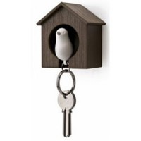 Bird House Key Ring