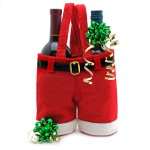 Santa Pants Wine Bottle Gift Bag