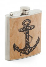 Down The Hatch Nautical Anchor Flask