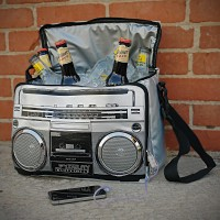 Retro Boom Box Music Cooler