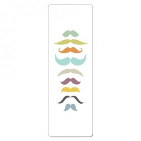 Retro Mustaches Travel Yoga Mat