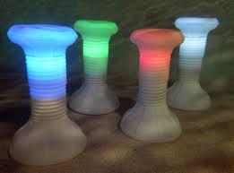 LED Pool Stools
