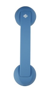 Native Union Authentic Bluetooth POP Phone Retro Handset for All Mobile and Tablet Devices - Aquamarine Soft Touch