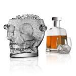 Brain Freeze Glass Skull Ice Bucket