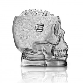 Brain Freeze Glass Skull Ice Bucket