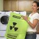 Hazmat Sign Radioactive Symbol Toxic Laundry BIN