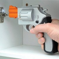 Silver Revolver Shaped Screwdriver