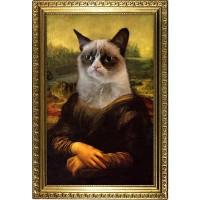 Mona Grumpy Cat Poster