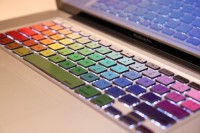 Rainbow Macbook Keyboard Stickers