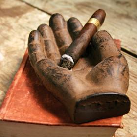 Cast Iron Cigar Ashtray Hand