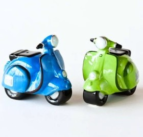 Vespa Motor Bikes Salt & Pepper Shaker Set