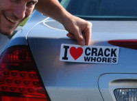'I Love Crack Whores' Bumper Magnet