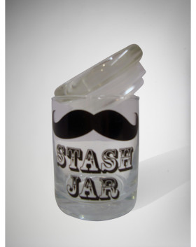 Mustache Stash Jar
