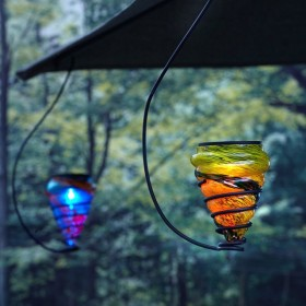 Hanging Art-Glass Solar LED Lights