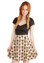 Aviary Afternoon Owl Skirt