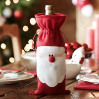 FREE Santa Wine Bottle Cover